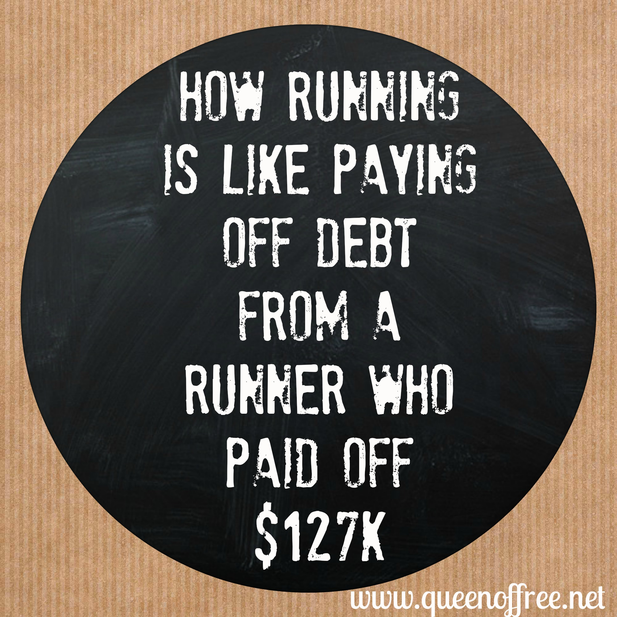 Observations from @thequeenoffree on how running is a lot like paying off debt.