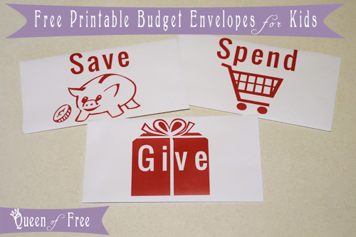 Cute FREE Printable Budget Envelopes for Kids
