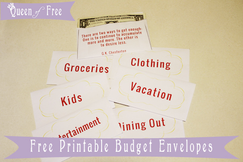 Print FREE Cash Envelopes to Keep Your Budget on Track from @thequeenoffree