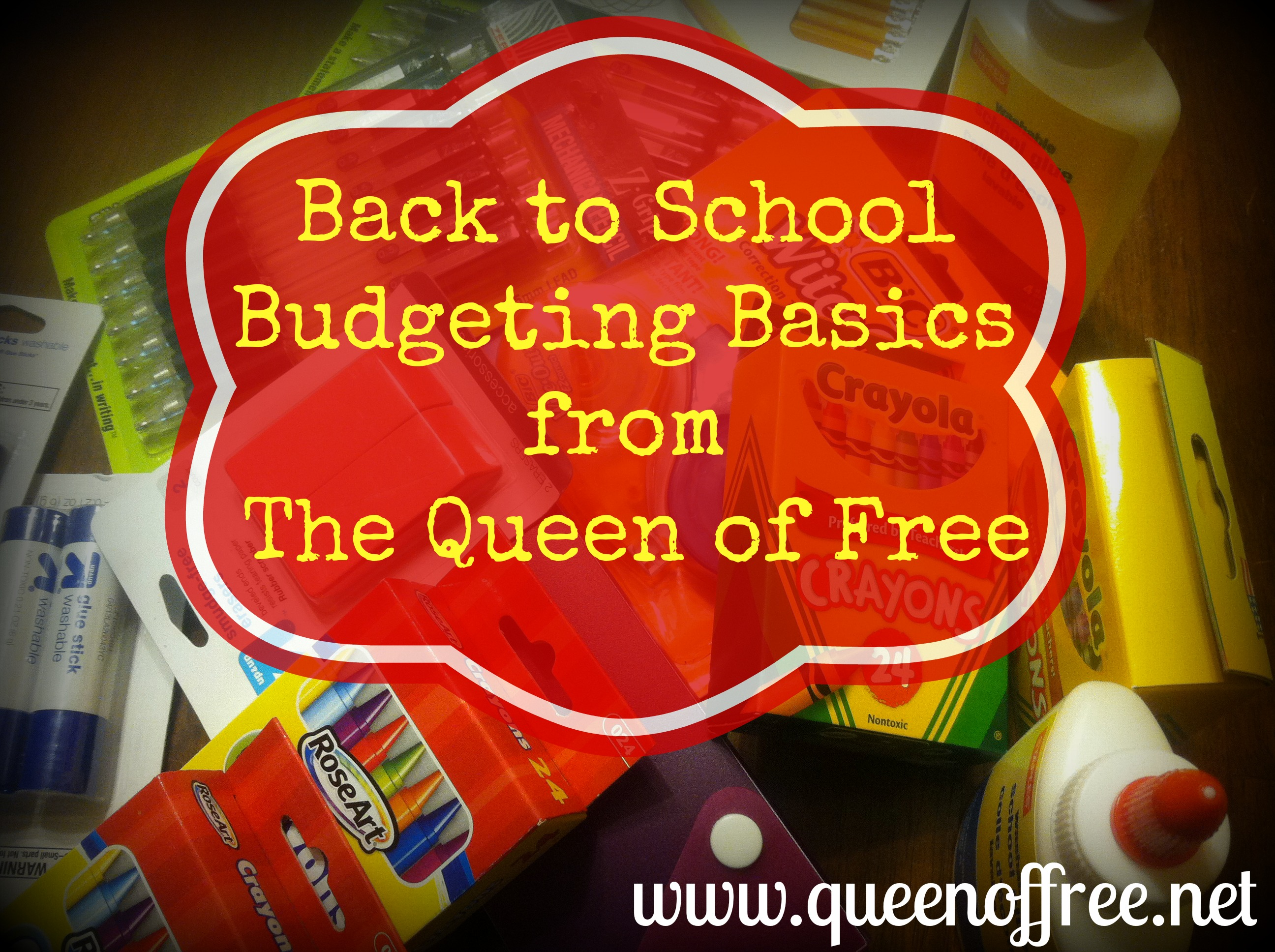 Don't know where to begin with Back to School Shopping? Start with these basic budget tips from @thequeenoffree