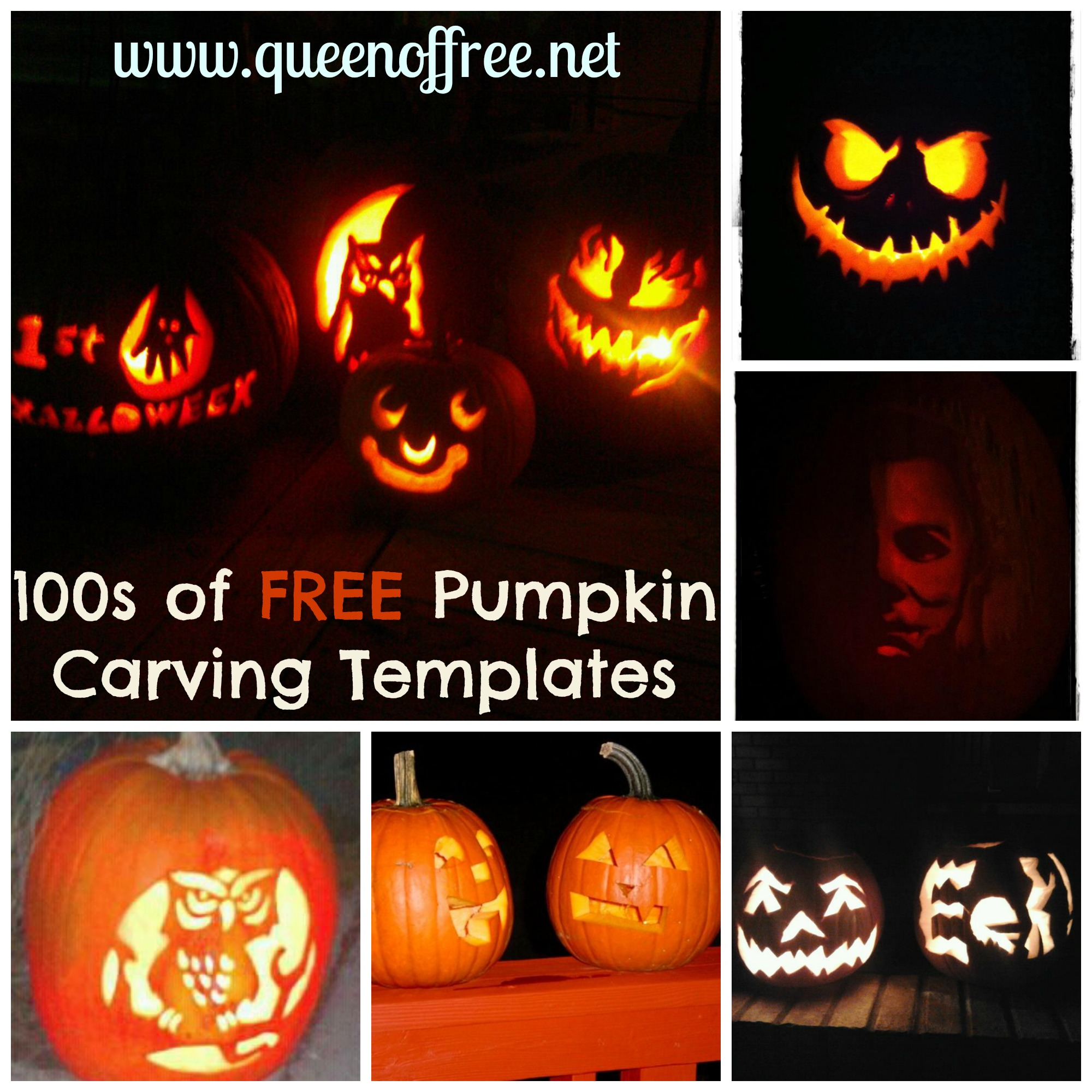 100s Of Free Pumpkin Carving Patterns