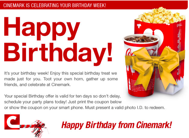 Cinemark discount coupons