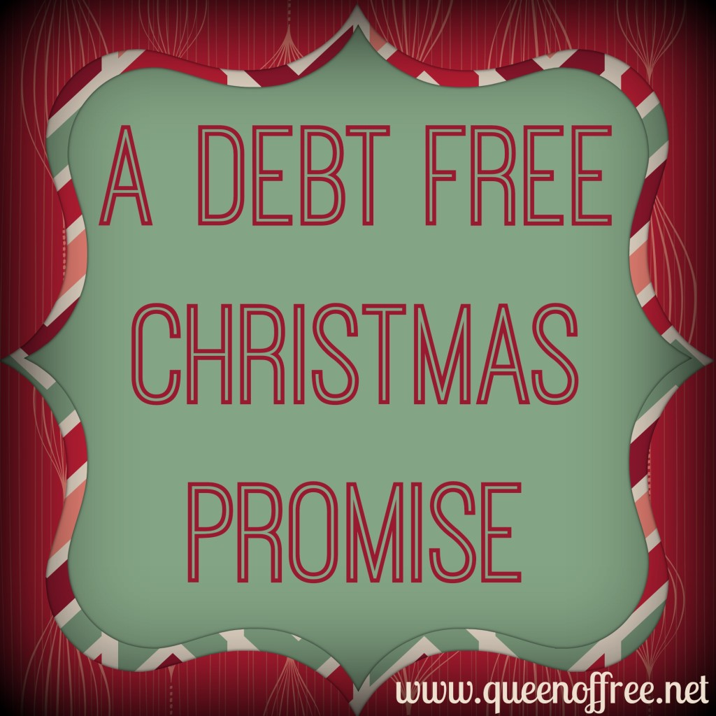 Take a pledge not to overspend or use credit cards this Christmas