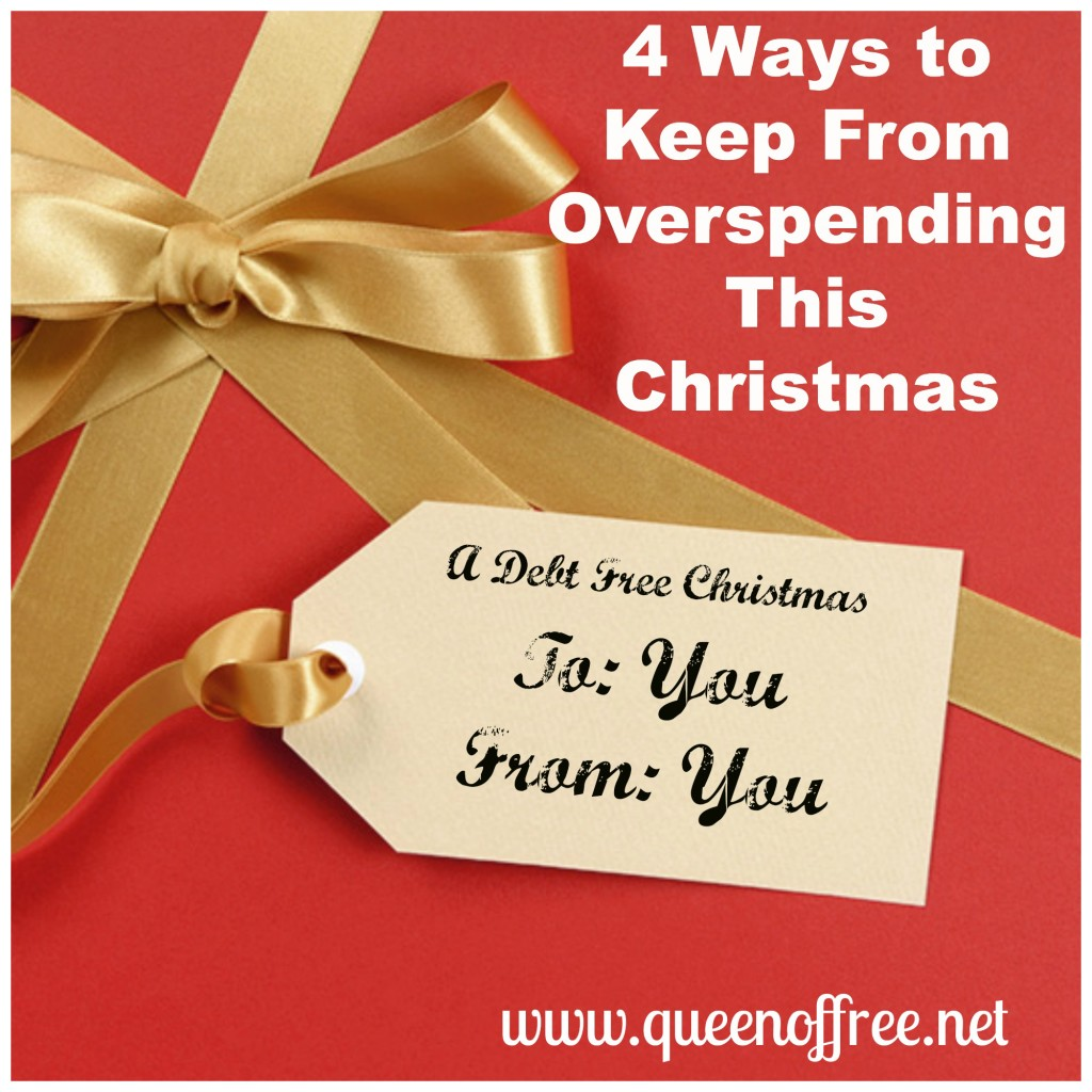 It's not too late! Check out these 4 Ways to Keep From Overspending this Christmas