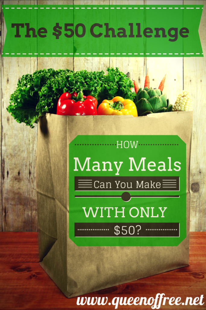If you had only $50 to prepare meals, how many could you make? Follow along with this challenge for meal plan ideas, frugal tips, recipes, and more!