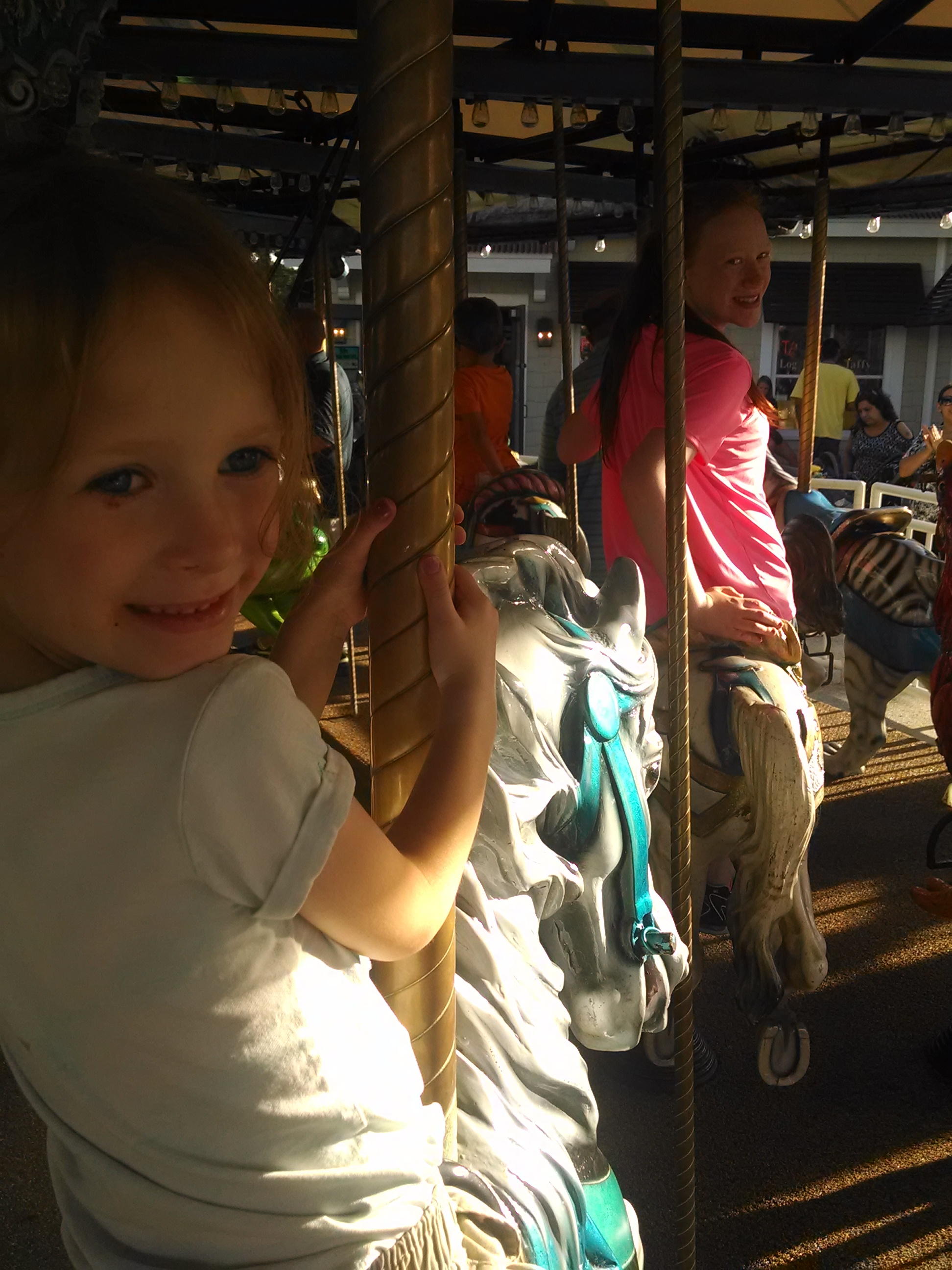 Girls on the Carousel