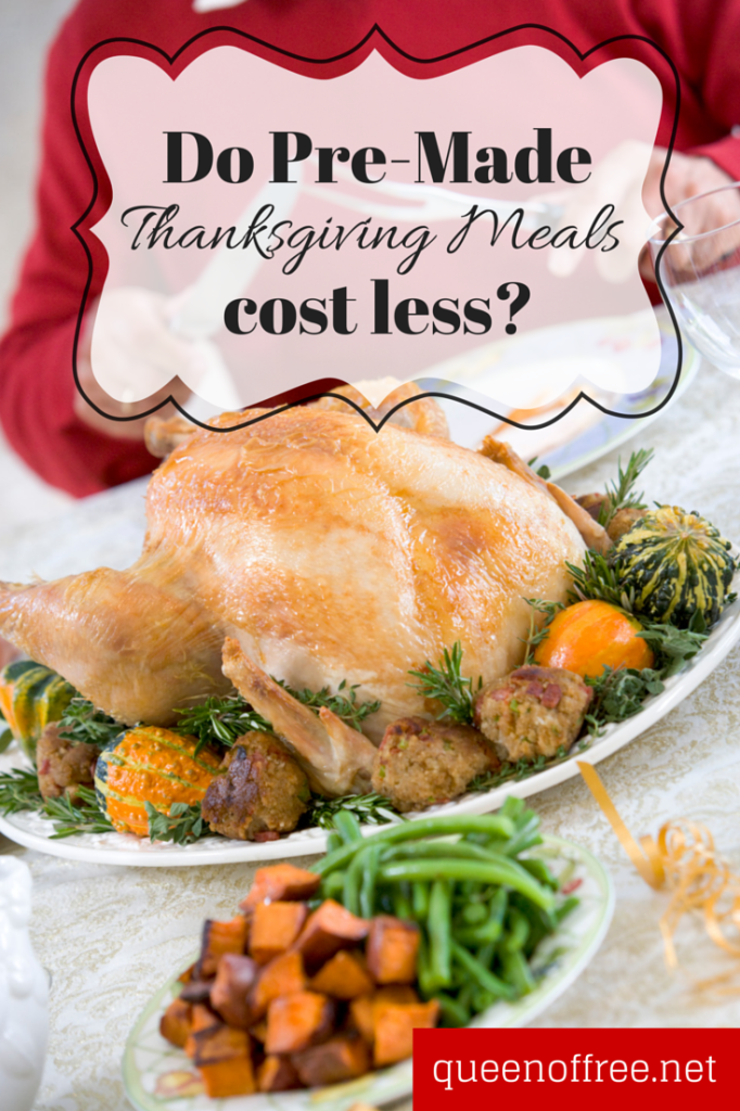 could thanksgiving meals to go be cheaper