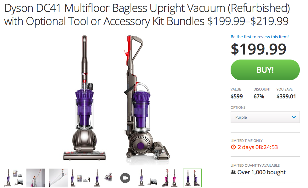 Dyson discount coupon