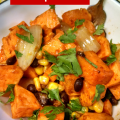 Spice up Thanksgiving with this easy and delicious recipe for slow cooker southwest sweet potatoes!