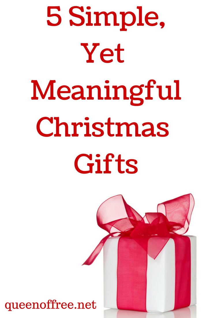 check out these great simple christmas gift ideas that are high on meaning and value