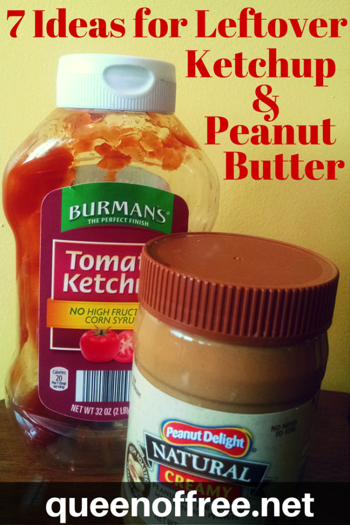 7 great out of the jar ideas for how to use leftover peanut butter and ketchup!