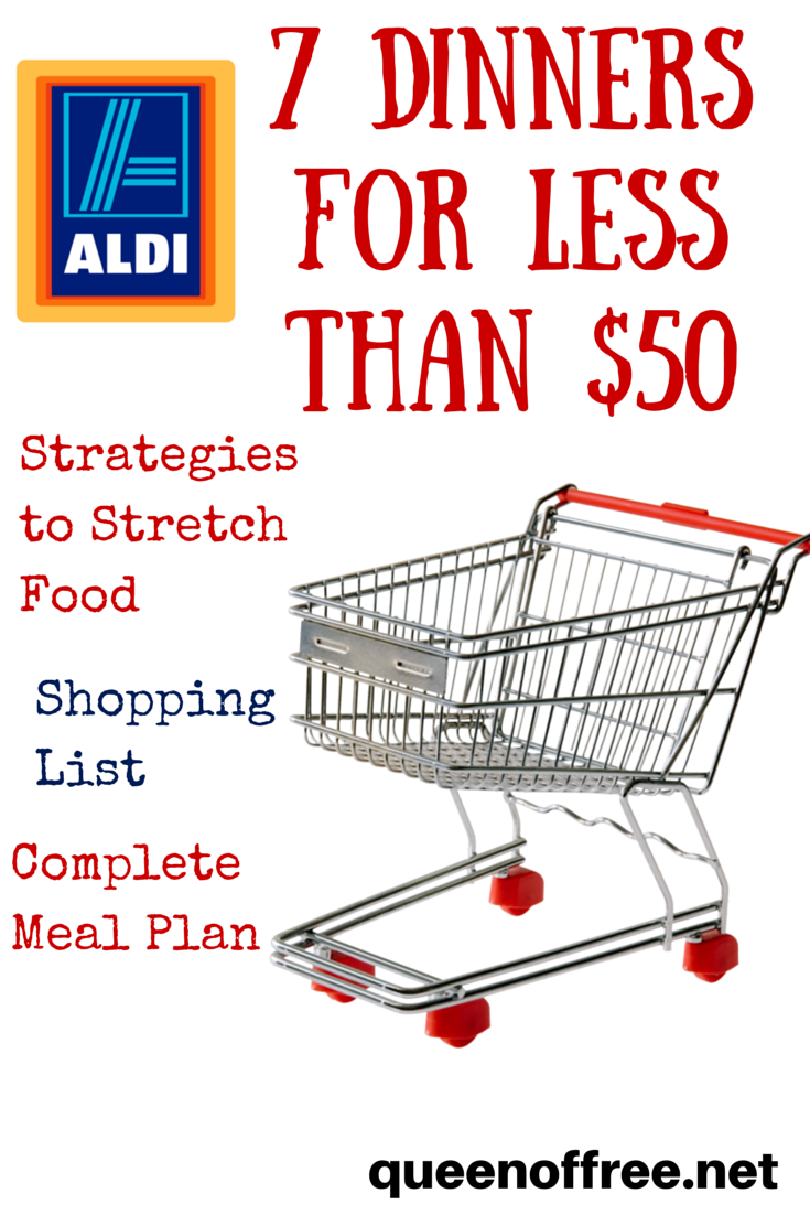 Aldi Meal Plan 7 Dinners For Less Than 50