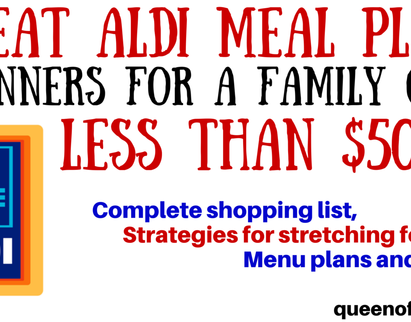 ALDI Meal Plan: 7 Dinners for Less than $50