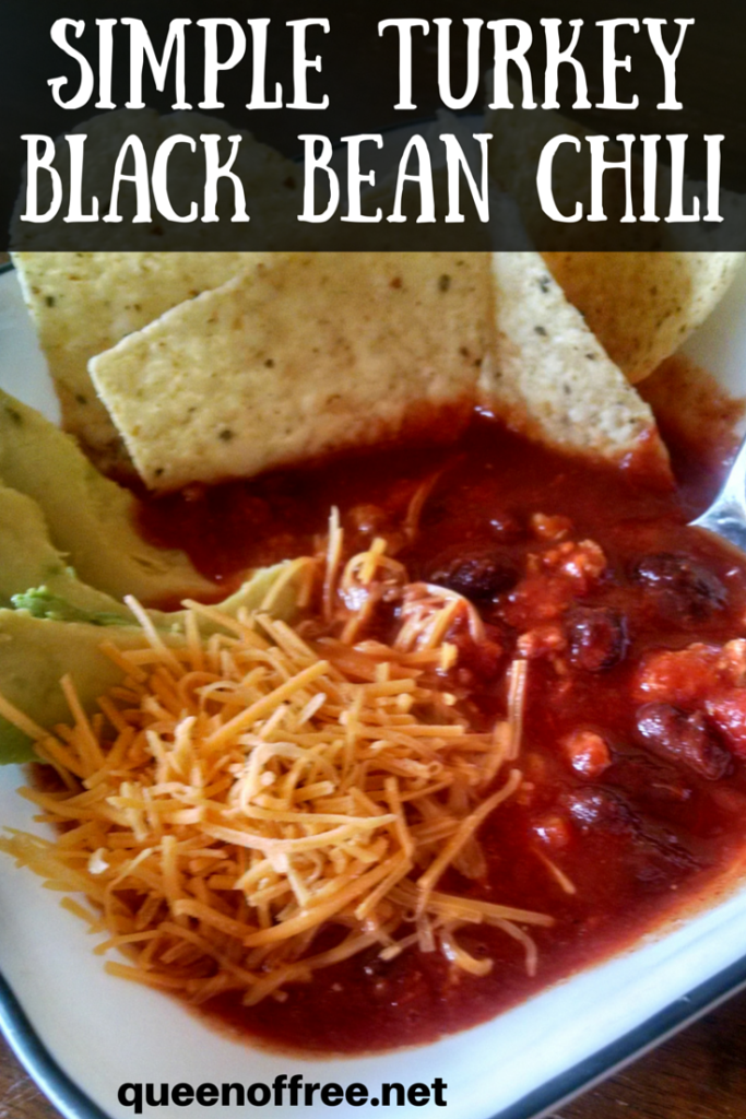 Simple Turkey Black Bean Chili - Queen of Free