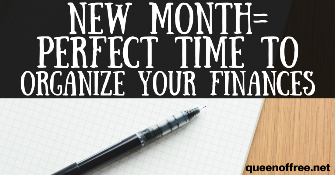 At a loss to how to begin organizing your finances? Check out this great post with tons of ideas of how to start this month out on the right financial foot.