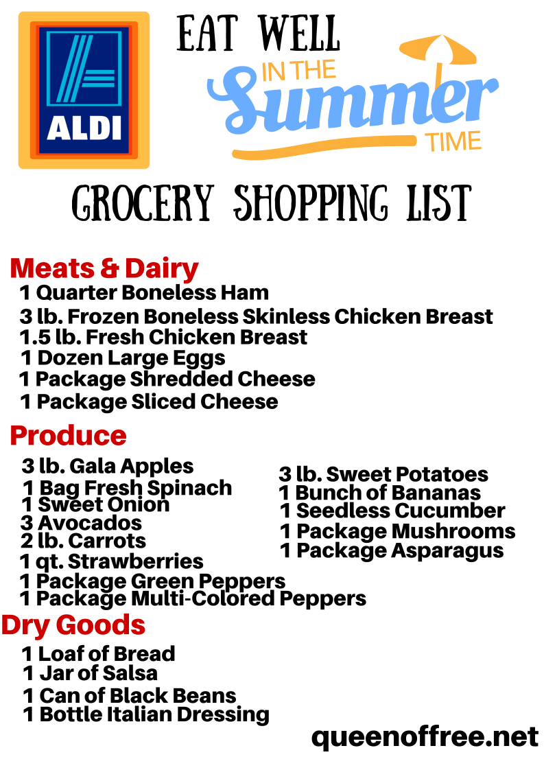 NEW ALDI Summer Meal Plan: 7 Dinners for Less Than $50