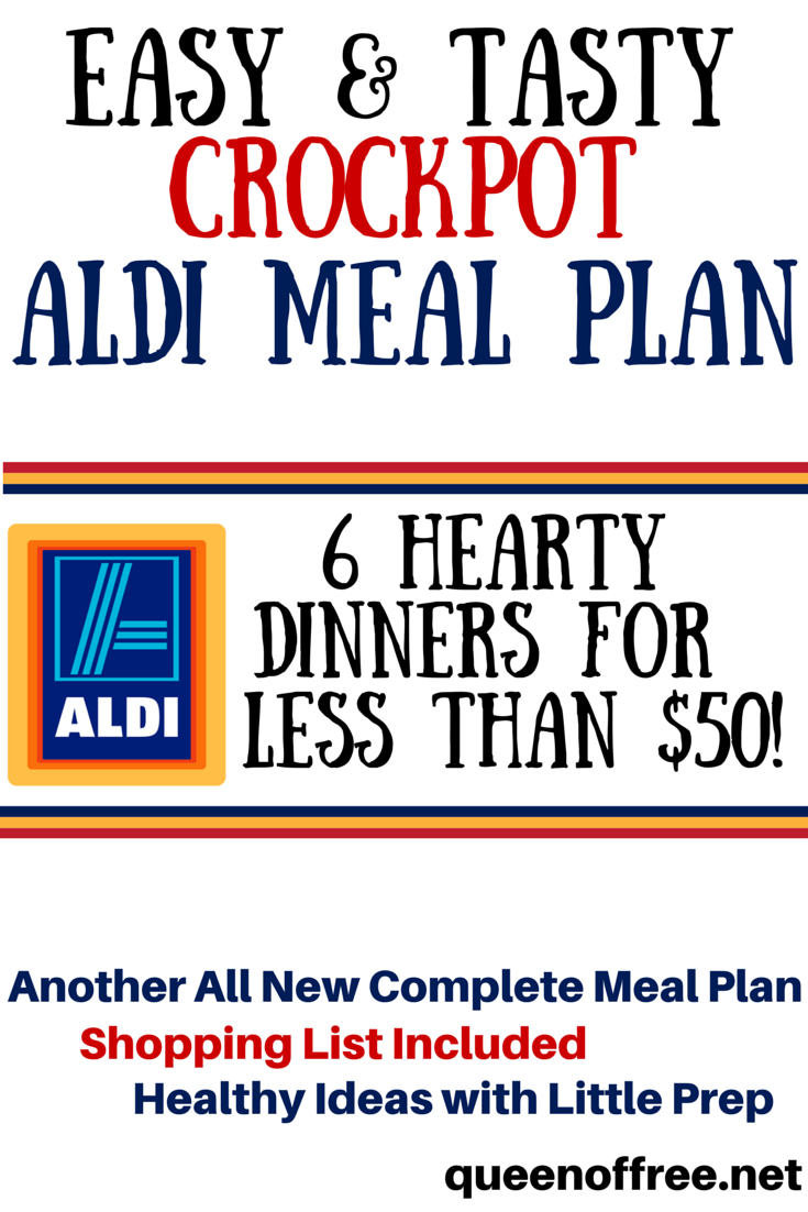 Check Out This Crockpot ALDI Meal Plan That Yields Six Dinners