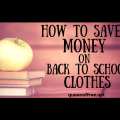 Looking for the best deals on back to school clothes? Be sure to check out this post for awesome tips to save money when you shop!