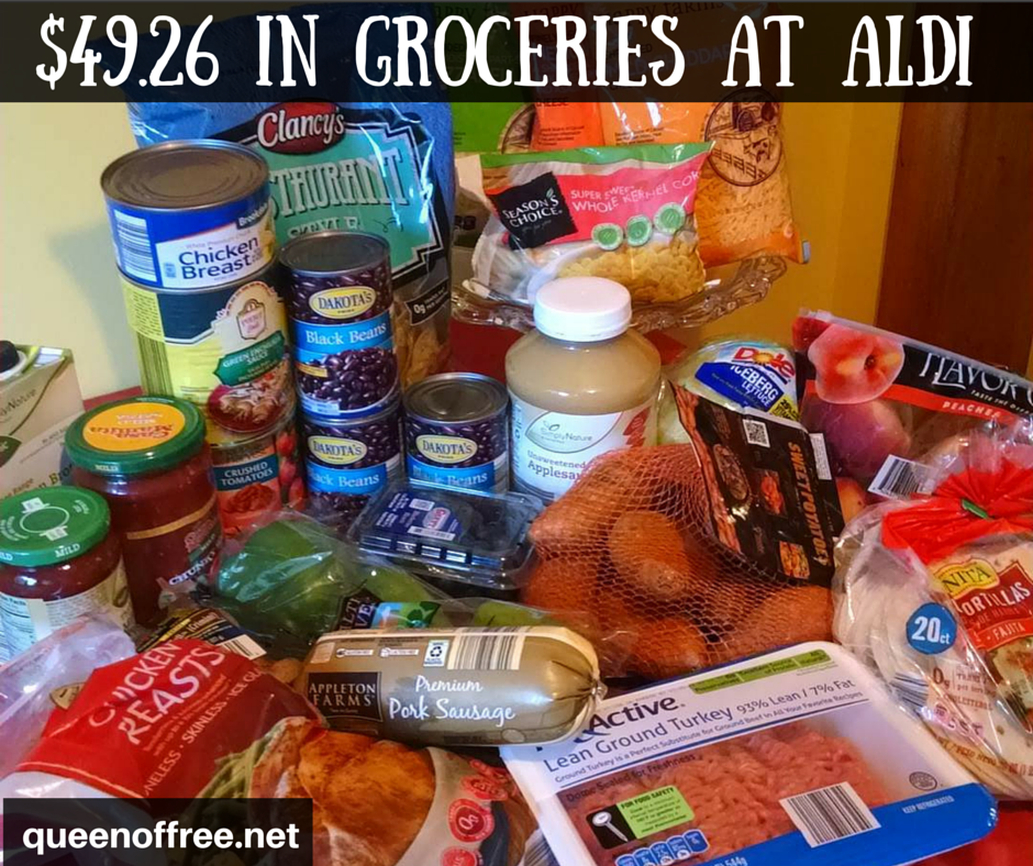 WOW! I amazed at how much you can buy at ALDI with $50. This ALDI Crockpot meal plan provides six hearty meals sure to have leftovers!