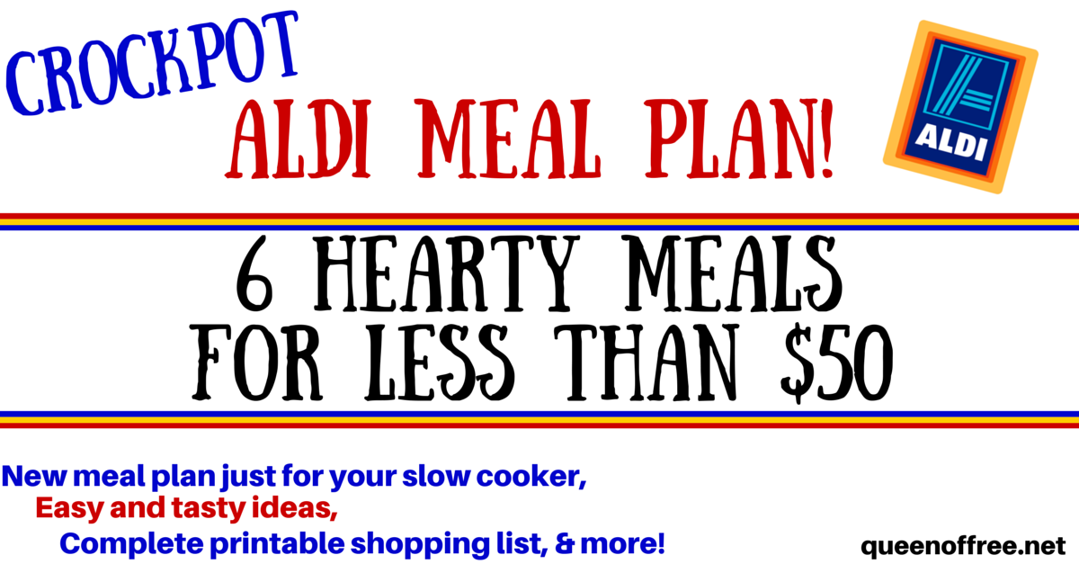 Love your slow cooker? Check out this crockpot ALDI Meal Plan that yields six dinners for less than $50.