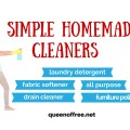 Think you can't make homemade cleaners? Think again. These simple recipes use the same ingredients & work more efficiently than their store counterparts.