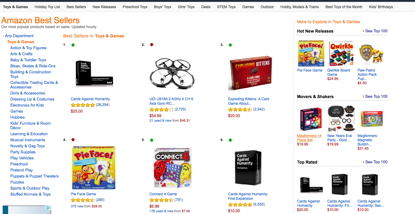 Don't forget to check the Best Sellers and Movers and Shakers on Amazon to see which deals are trending!