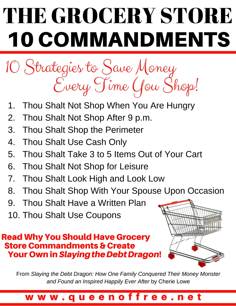 photo regarding 10 Commandments Poster Printable named Grocery Keep 10 Commandments - Queen of Free of charge