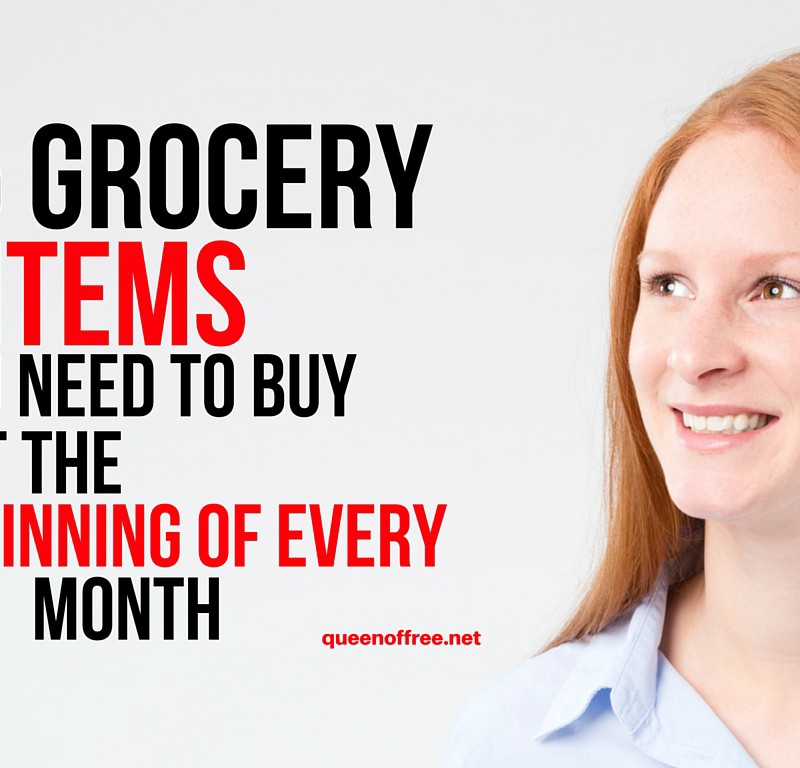 15 Grocery Items to Buy at the Beginning of Every Month