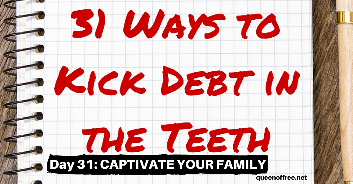 It takes an entire team pulling together to claim victory. How to captivate your family and their hearts to pay off debt - together.