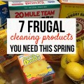 Spring cleaning doesn't have to cost a bundle. Don't miss these 7 Frugal Cleaning Products to keep your house spotless and your wallet full.