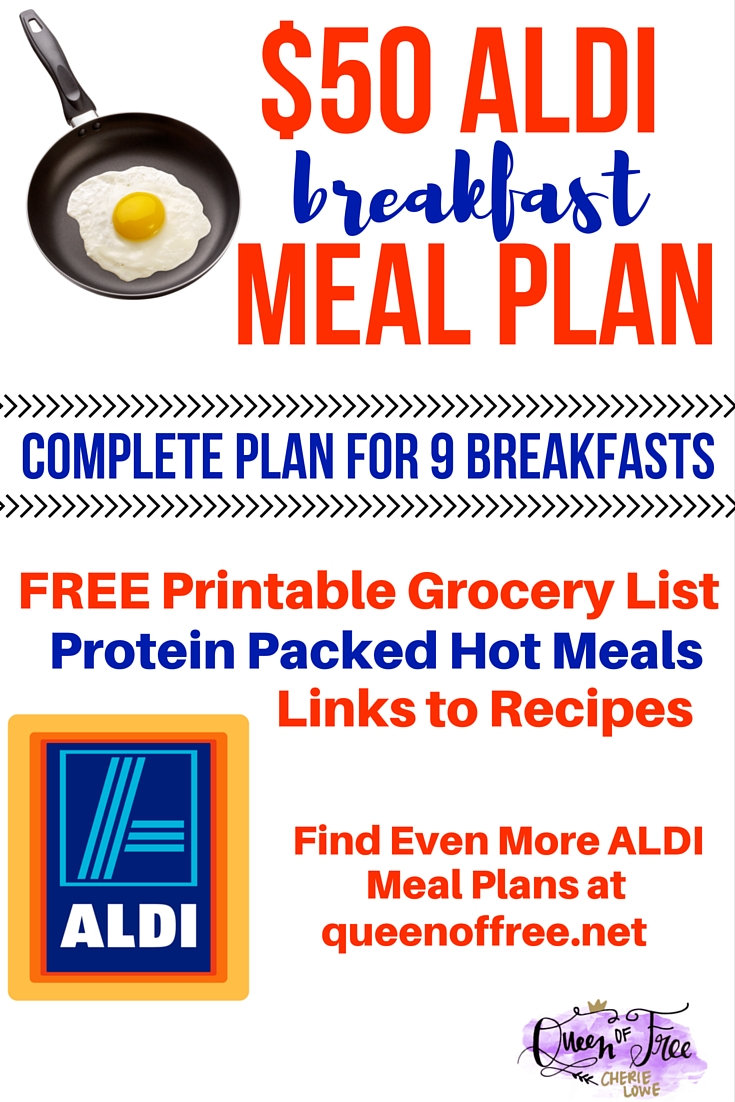 50 aldi breakfast meal plan