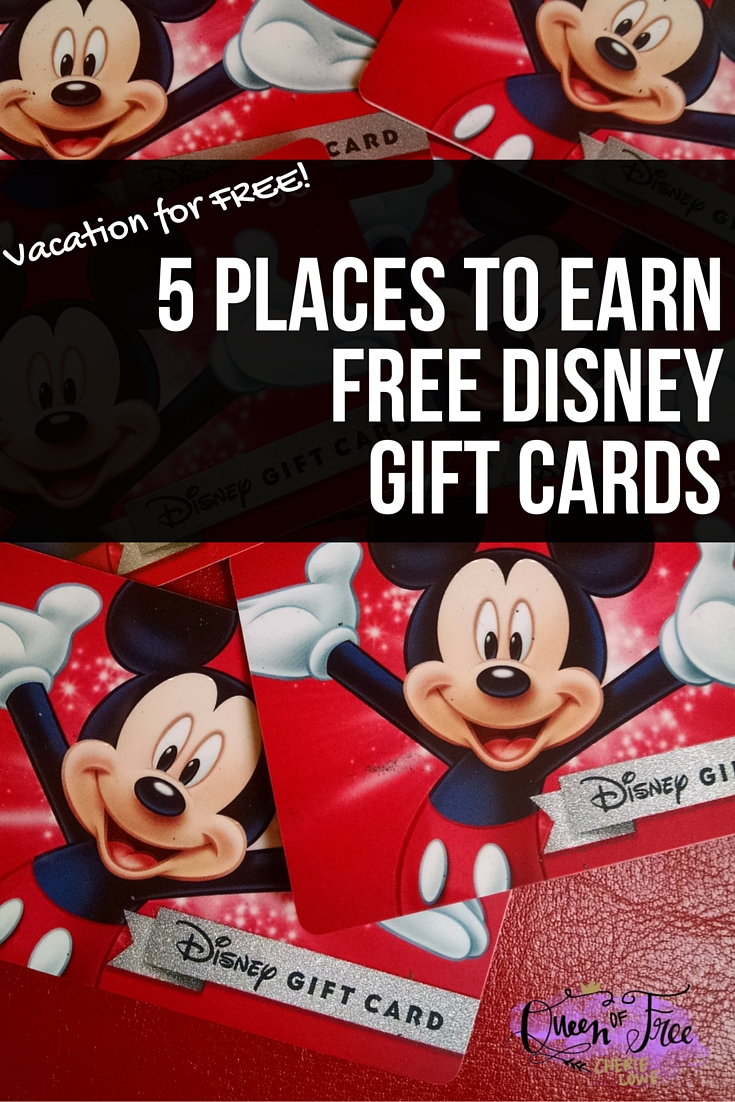 Earn free disney vacation gift cards queen of free did you know you can earn free disney vacation gift cards with these great rewards programs negle Gallery