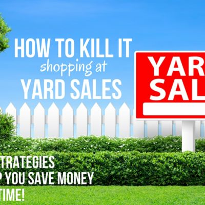 Shopping garage sales can save you cash in more ways than one! Check out these solid strategies to make the most of your money.