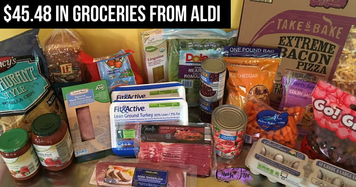 $50 ALDI Back to School Meal Plan - Queen of Free