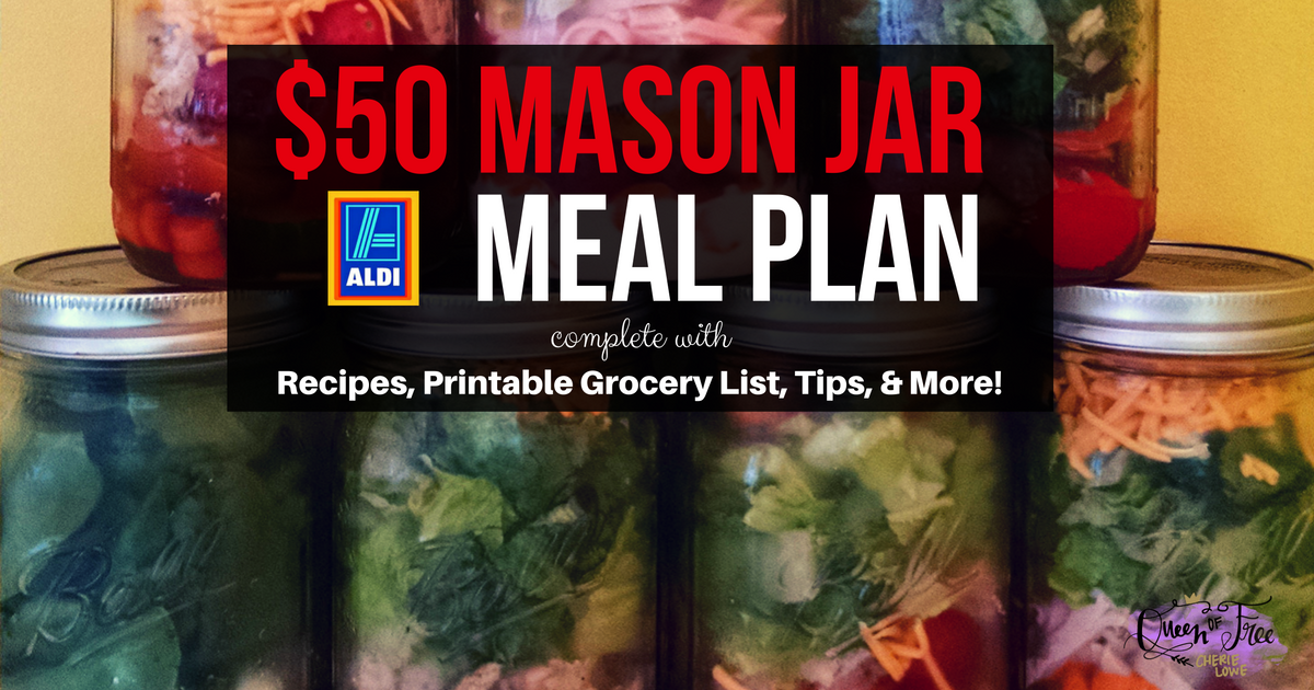 WOW! Make 19 Delicious Mason Jar Salads for less than $50. Check out printable grocery list, recipes, assembly tips, and more!