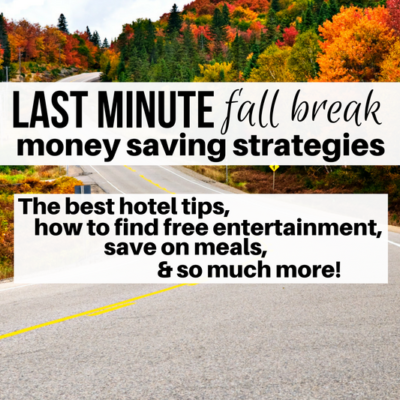 I can't believe I haven't been using these strategies every time I travel. Check them out for a last minute fall break trip!