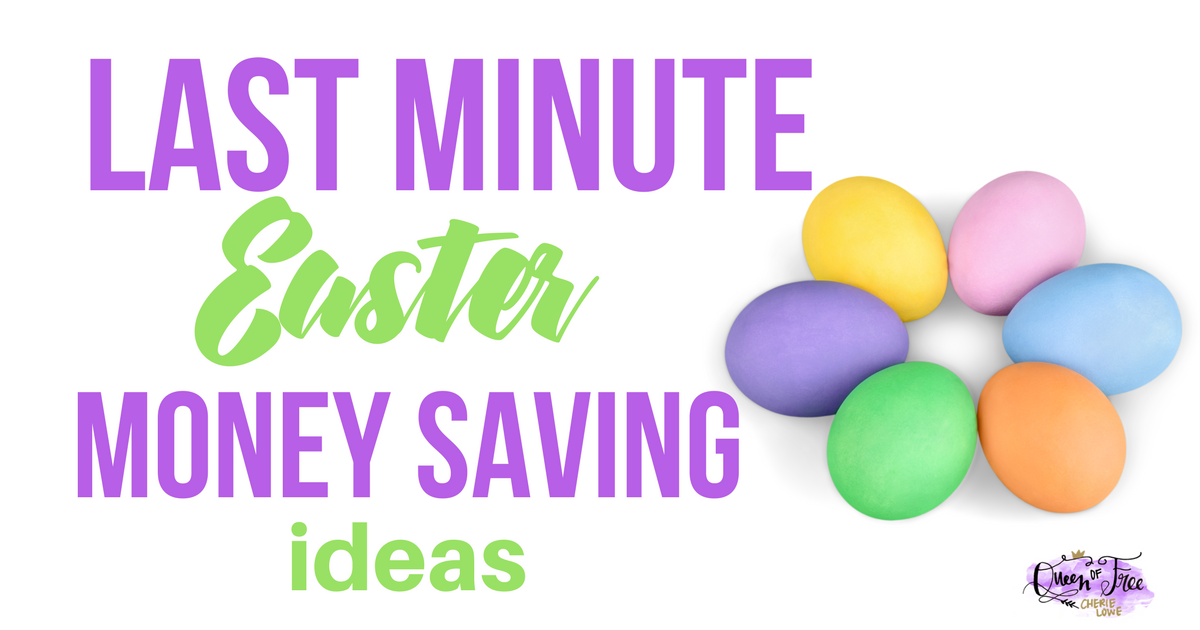 Don't let last minute shopping bust your budget! Check out these creative last minute Easter money and time saving strategies.