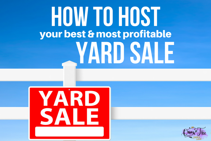How to Host a Profitable Yard Sale