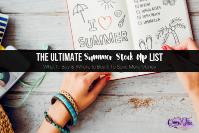Summertime gets expensive! But if you stock up on these five key items, you'll be sure to save money this summer and have fun.