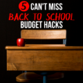 Before the kids hit the books, check your bank account! These 5 Smart Money Saving Back to School Budget Hacks keep your spending in check.
