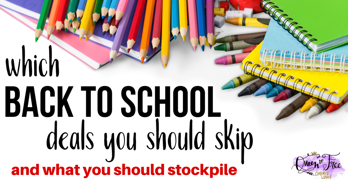 Do you know which back to school deals to stock up on and which ones you should skip? Don't shop for supplies until you read this post!