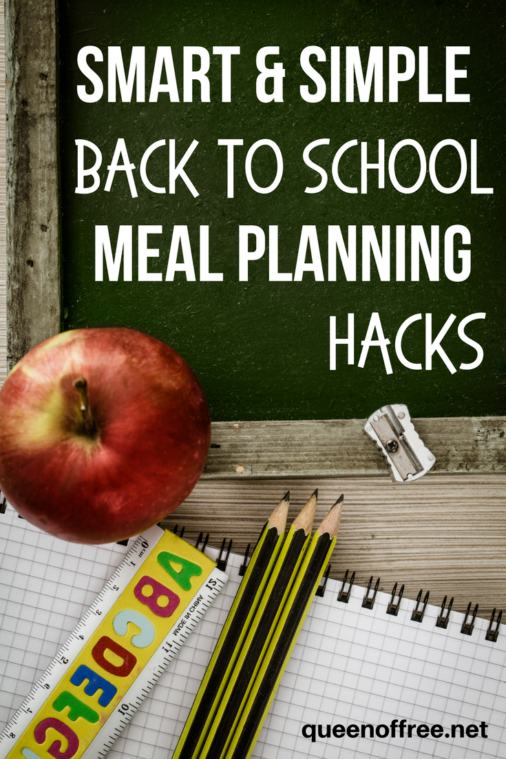 Don't get in a dinner rush that leads to the drive through! Check out these smart and simple Back to School Meal Planning Hacks now.