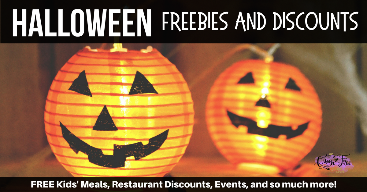 Boo! Don't terrify your budget this October, check out the following Halloween freebies and discounts to save money and have fun!