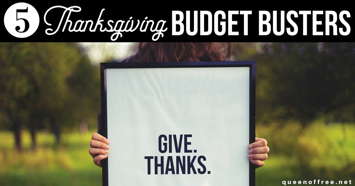 Oh no! Have you fallen into these 5 turkey day spending traps? Avoid these Thanksgiving budget busters with some simple tips!