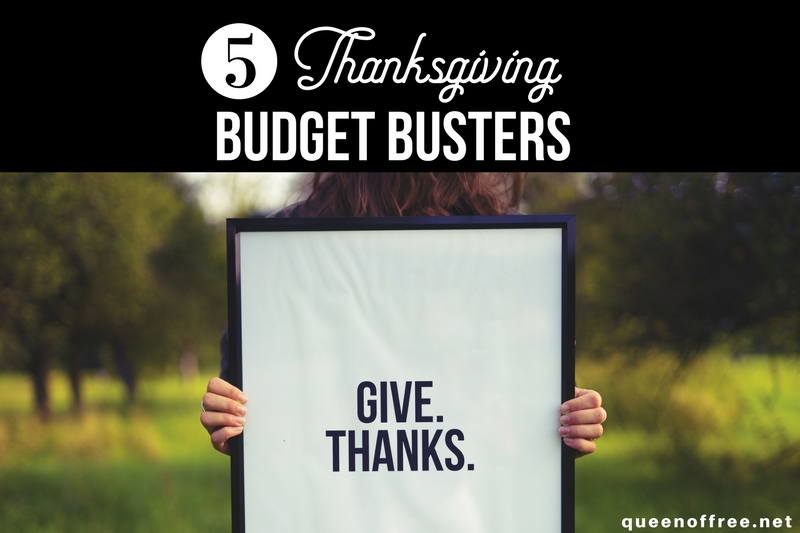 5 Thanksgiving Budget Busters to Avoid