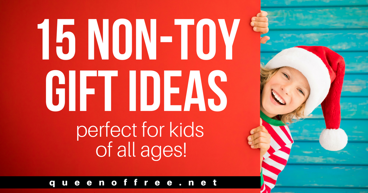 Don't add more to the mess or buy items that won't last. Check out these fantastic Non-Toy Gift Ideas for kids of all ages!