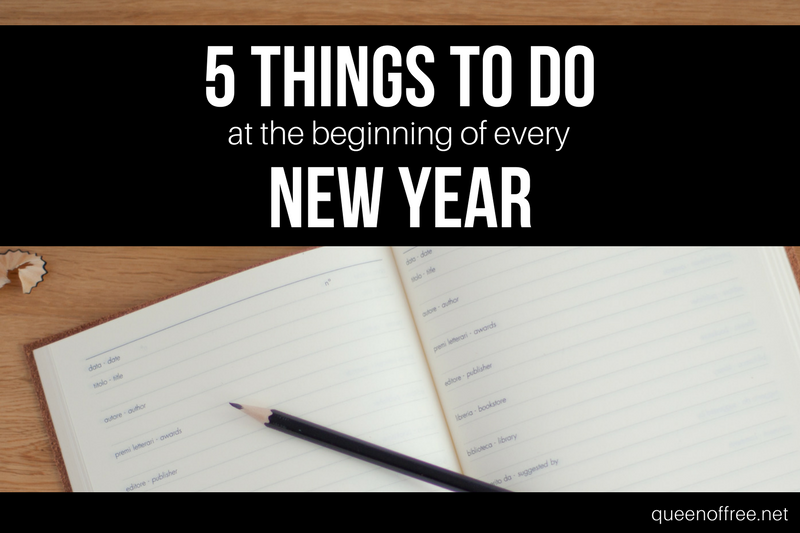 5 Things to Do At the Beginning of Every Year