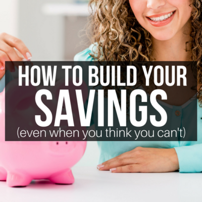 Want to go on vacation, buy a house, or score a new car? You CAN build your savings and achieve your money goals with these tips!
