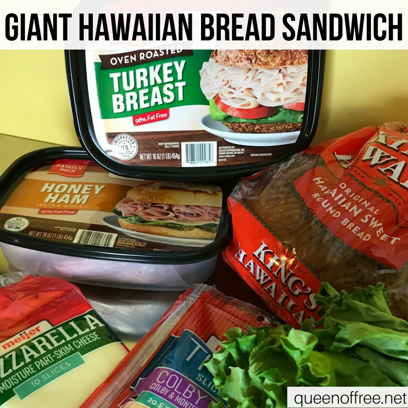 WOW! This Giant Hawaiian Bread Sandwich is a hit for Super Bowl fun. Check out the recipe plus three other quick, affordable, & easy ideas.