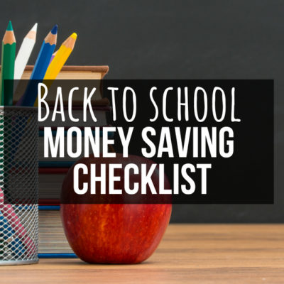 Quit wasting money on purchases you don't need for the new year! Check out this Back to School Money Saving Checklist, STAT.